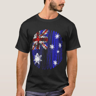 Australia on Black Tee Shirt