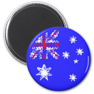Australia on Blue Magnet