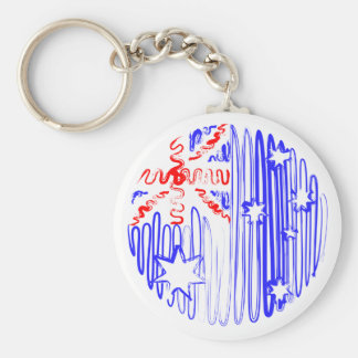 Australia on White Keychain