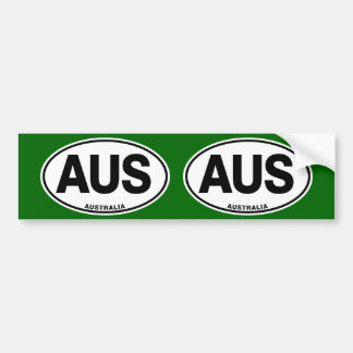 Australia Oval International Identity Letters Bumper Sticker