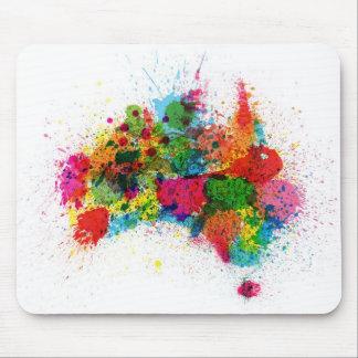 Australia Paint Splashes Map Mouse Mat