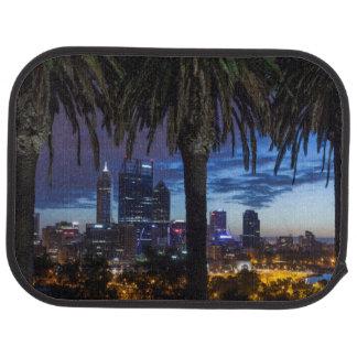 Australia, Perth, city skyline from Kings Park 2 Car Mat