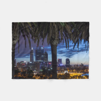 Australia, Perth, city skyline from Kings Park 2 Fleece Blanket