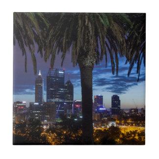 Australia, Perth, city skyline from Kings Park 2 Tile