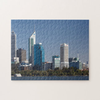 Australia, Perth, city skyline from Swan River Jigsaw Puzzle
