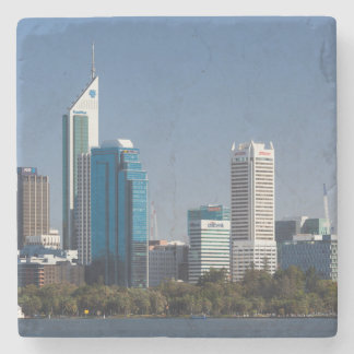 Australia, Perth, city skyline from Swan River Stone Coaster