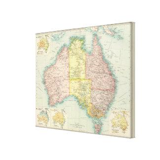Australia political canvas print