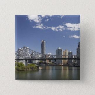 Australia, Queensland, Brisbane, Story Bridge, 15 Cm Square Badge