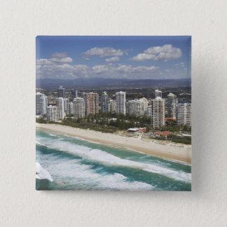 Australia, Queensland, Gold Coast, Main Beach - 15 Cm Square Badge