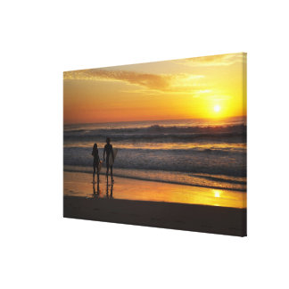 Australia, Queensland, Gold Coast, Surfers at Gallery Wrapped Canvas