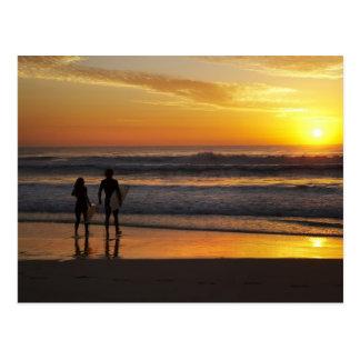 Australia, Queensland, Gold Coast, Surfers at Postcard