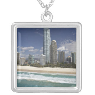 Australia, Queensland, Gold Coast, Surfers Silver Plated Necklace