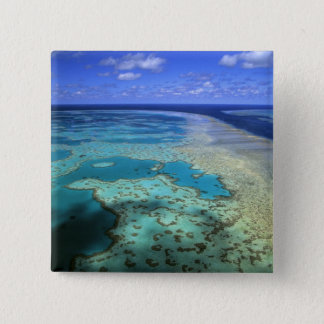 Australia - Queensland - Great Barrier Reef. 4 15 Cm Square Badge