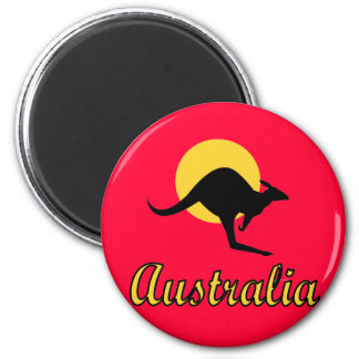 Australia Red earth Design 6 Cm Round Magnet