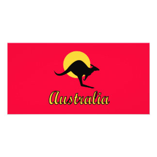 Australia Red earth Design Picture Card