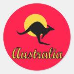 Australia Red earth Design Round Stickers
