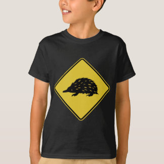 Australia Road Sign - Echidna T-Shirt