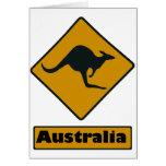Australia Road Sign - Kangaroo Crossing Greeting Card