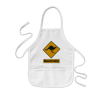 Australia Road Sign - Kangaroo Crossing Kids Apron