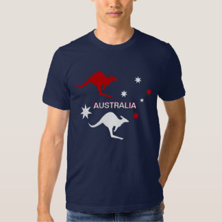 Australia Roo & Cross Design RWB Shirts