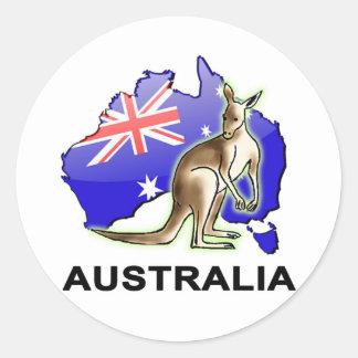 Australia Round Sticker