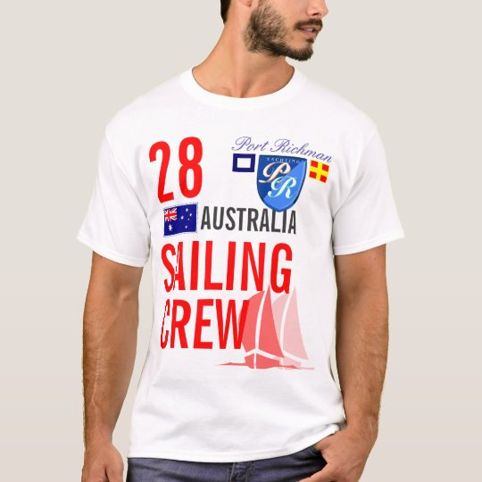 Australia Sailing Crew Nautical T-Shirt