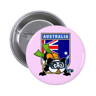 Australia Scuba Diving Panda 6 Cm Round Badge