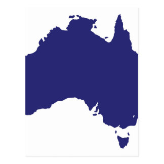 Australia Silhouette Postcard