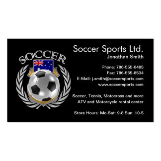 Australia Soccer 2016 Fan Gear Pack Of Standard Business Cards