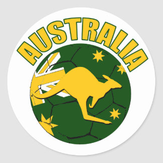 Australia soccer Ball design Stickers