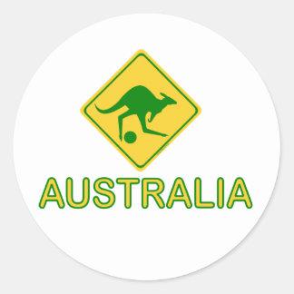 Australia Soccer Kangaroo Round Stickers
