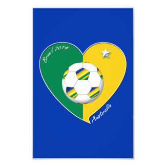 AUSTRALIA SOCCER national team Green & Gold 2014 Photo