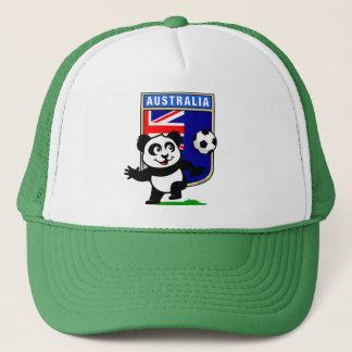 Australia Soccer Panda Trucker Hat