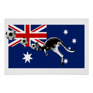 Australia Soccer Print