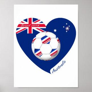"""""""AUSTRALIA"""" Soccer Team. Soccer of Australia Poster"""