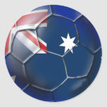 Australia Socceroos Soccer fans Oz flag Ball Round Stickers