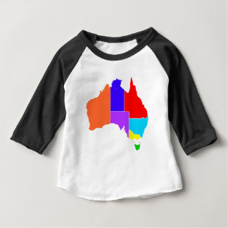 Australia States In Colour Silhouette Baby T-Shirt