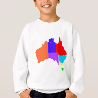 Australia States In Colour Silhouette Sweatshirt