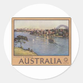 Australia Sydney Harbour Classic Round Sticker