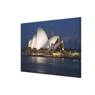 Australia, Sydney. Opera House at night on Canvas Print