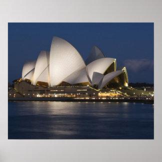 Australia, Sydney. Opera House at night on Poster