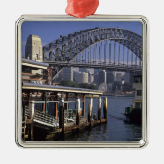 Australia, Sydney, Passenger ferry, one from Silver-Colored Square Decoration