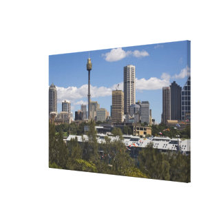 Australia, Sydney, Potts Point. Sydney skyline. Canvas Print