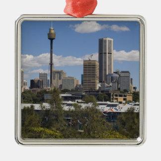 Australia, Sydney, Potts Point. Sydney skyline. Christmas Ornament