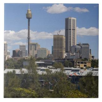 Australia, Sydney, Potts Point. Sydney skyline. Tile