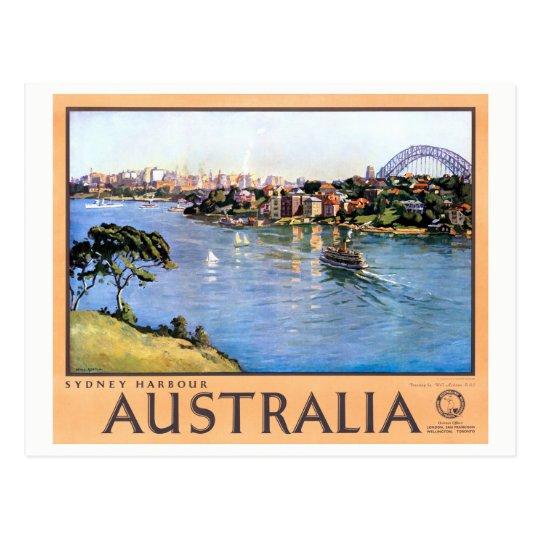 Australia Sydney Restored Vintage Travel Poster Postcard