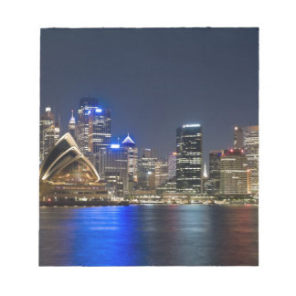 Australia, Sydney. Skyline with Opera House seen Notepad