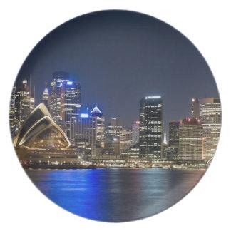 Australia, Sydney. Skyline with Opera House seen Plate