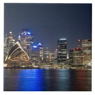 Australia, Sydney. Skyline with Opera House seen Tile