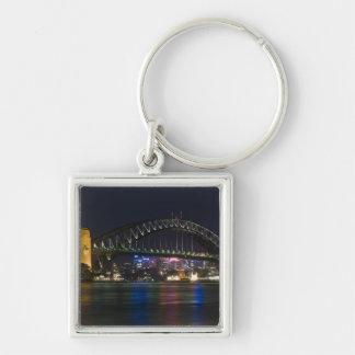 Australia, Sydney. Sydney harbor at night. Key Ring